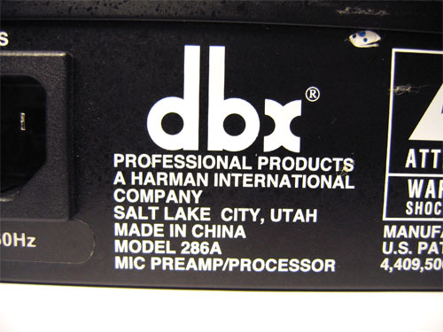 DBX 286A. Made In China